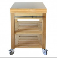 Cristel Cristel COOKMOBIL 60cm. Stainless steel top. Wooden shelves and drawer.-20