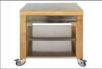 Cristel Cristel COOKMOBIL 60cm. Stainless steel top, shelves and drawer.-20