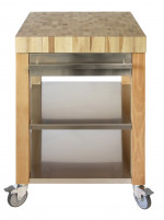 Cristel Cristel COOKMOBIL 40cm. Wooden Top Shelves and drawer Stainless Steel-20
