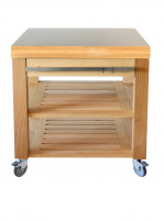 Cristel Cristel COOKMOBIL 90cm. Stainless steel top. Wooden shelves and drawer.-20