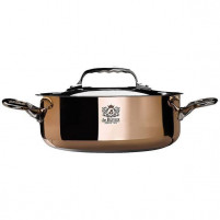 de Buyer de Buyer Copper Saute pan with magnetic bottom with lid INDUCTION-20